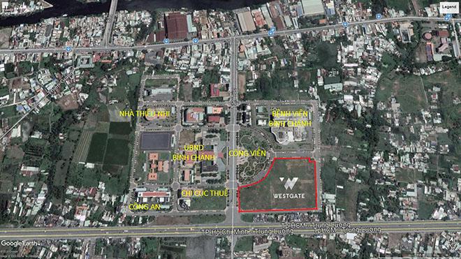 Dự án West Gate nằm ngay lõi trung tâm hành chính Tây Sài Gòn